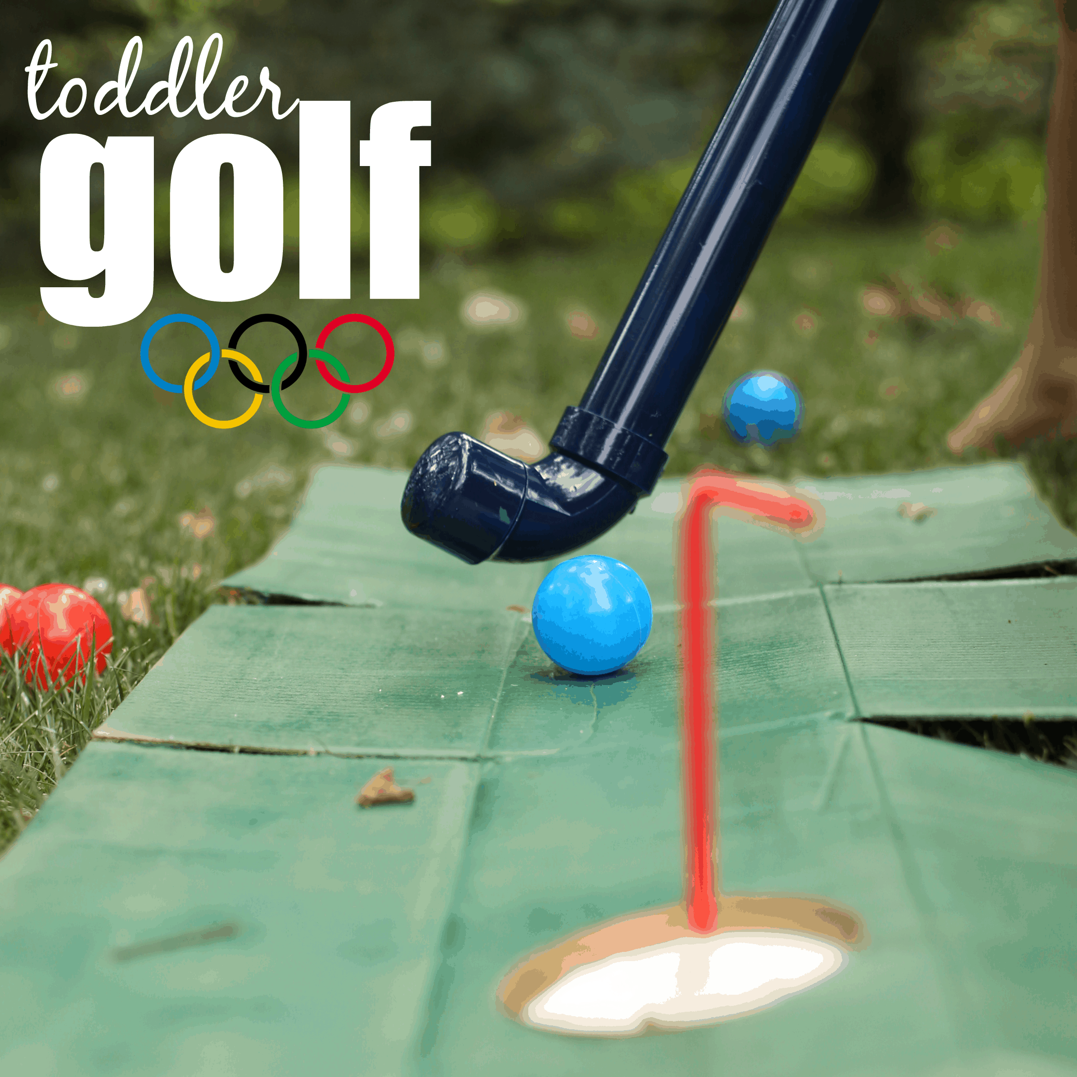Diy Toddler Golf Clubs And Putting Green I Can Teach My