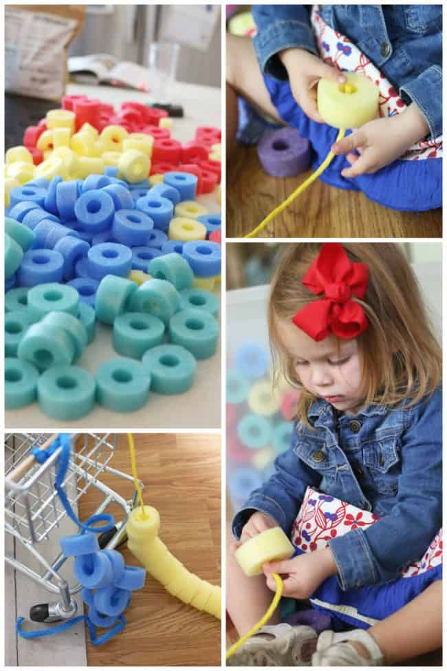 sorting-and-threading-foam-beads