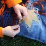 Toddler Leaf Lacing