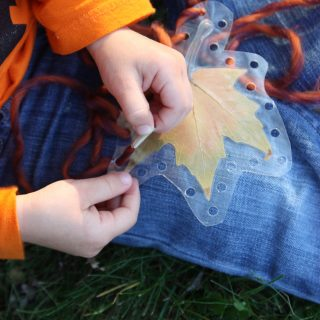 Toddler Leaf Lacing