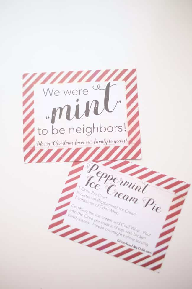 "We were ""mint"" to be neighbors printable gift tags"