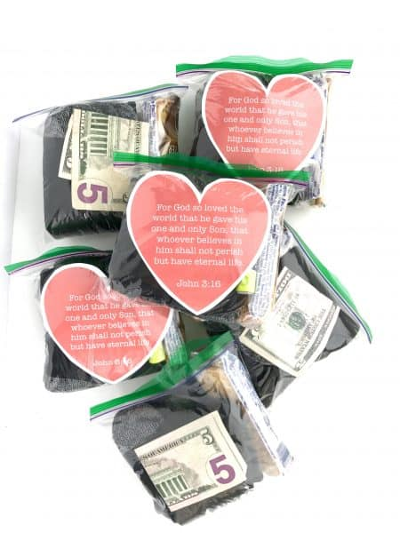 Mini Blessing Bags with Printable Heart