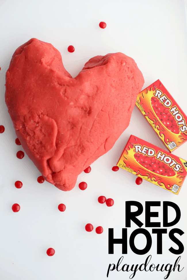 Red Hots Playdough: Playdough made using the Red Hots Candy! So much fun for Valentine's Day!