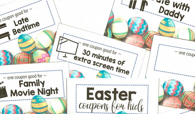 Printable Easter Coupons for Kids