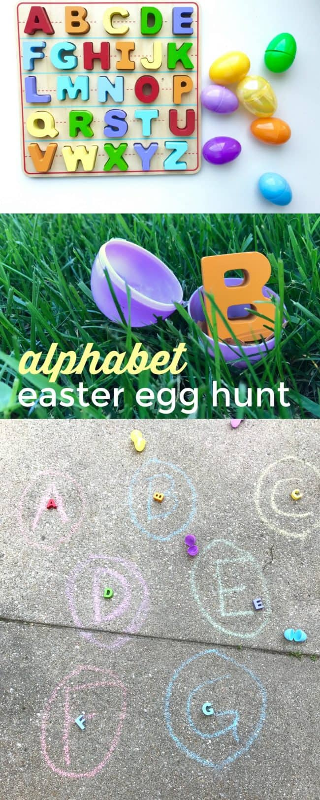 Alphabet Easter Egg Hunt and Match