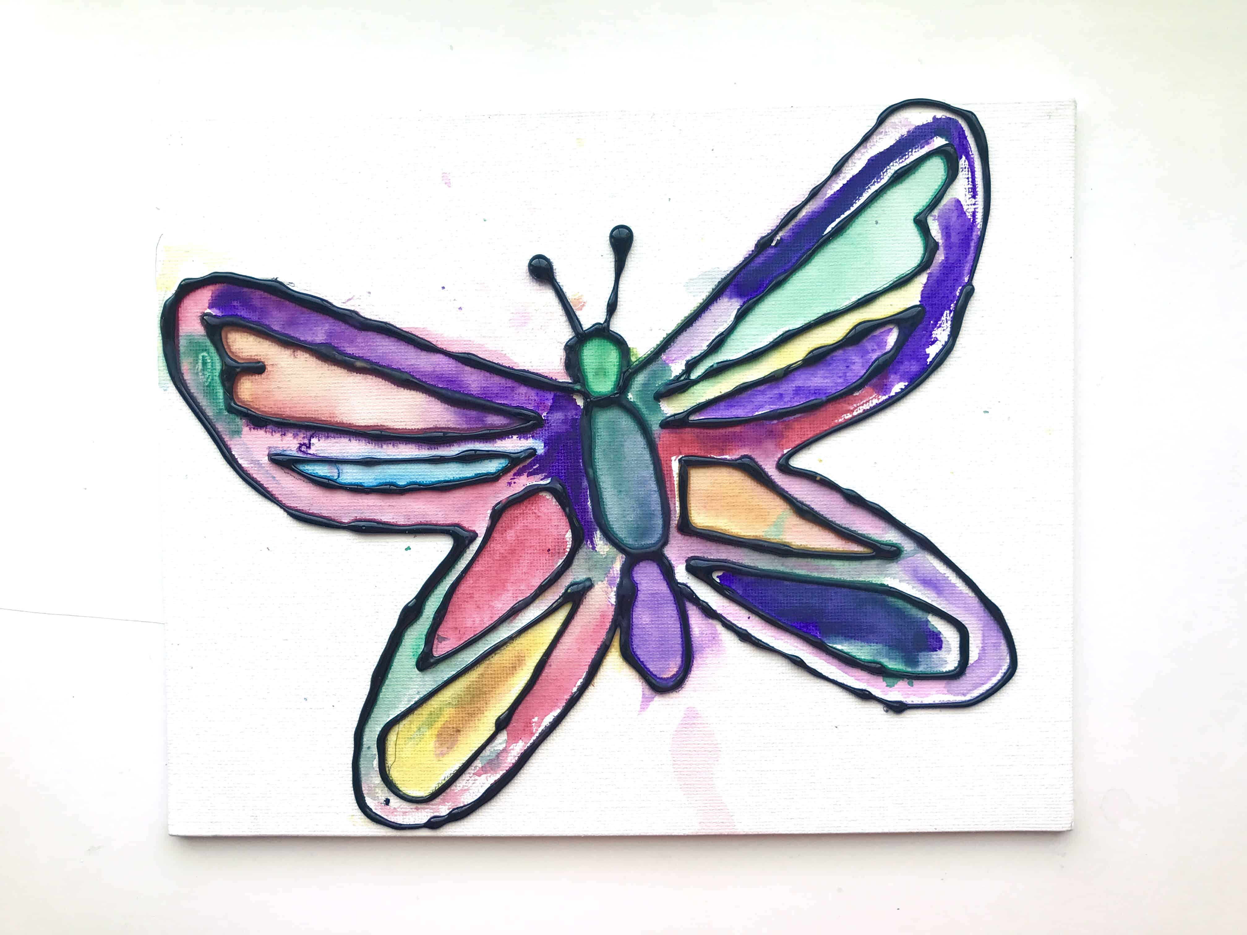 butterfly art with watercolors and glue i can teach my child
