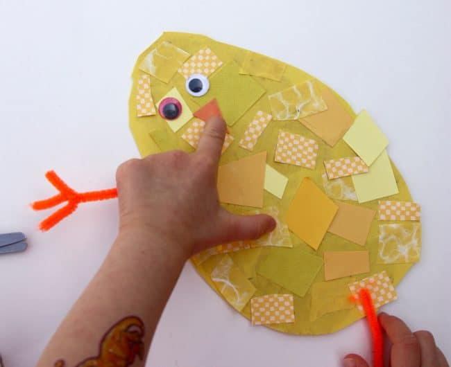 Snippy Chicks Scissor Skill Spring Craft for Toddlers