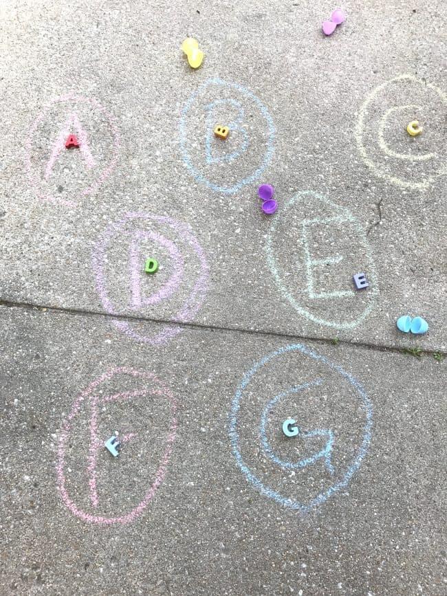 Letter Matching for Alphabet Easter Egg Hunt