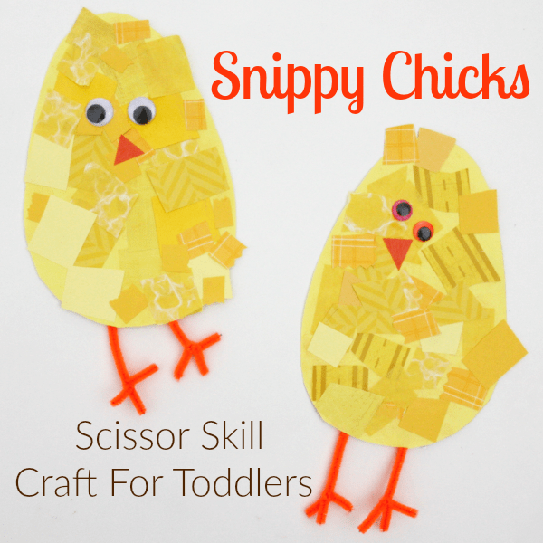 Snippy Chicks Scissor Skill Spring Craft For Toddlers I Can Teach