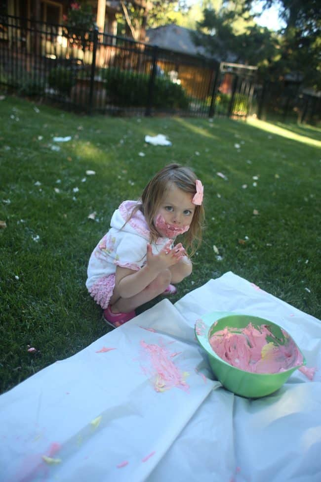 Whipped Topping Painting