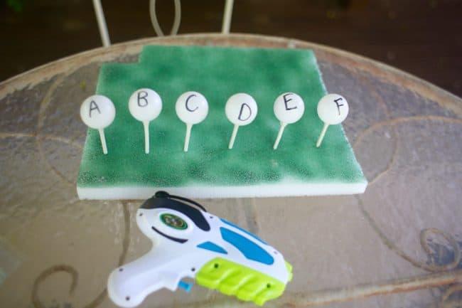 Alphabet Water Gun Target Practice