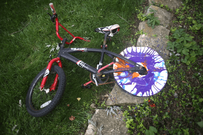 Bicycle Spin Art