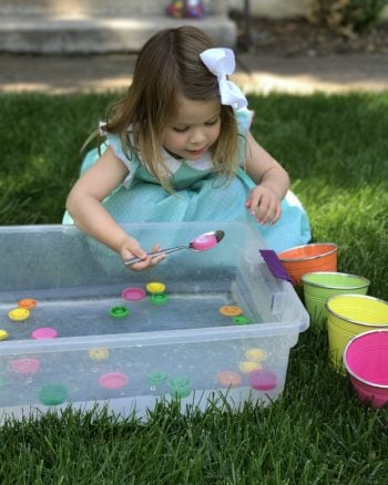 Scooping and Sorting Lids for Toddlers