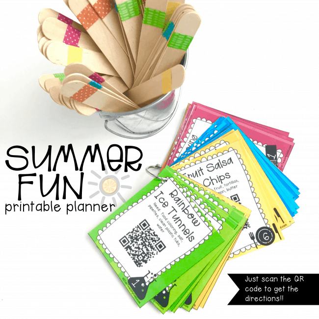 Interactive Printable Summer Fun Planner