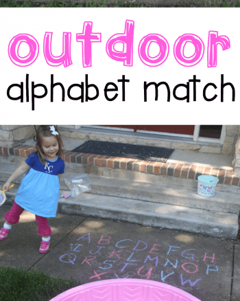 Outdoor Alphabet Match for Toddlers