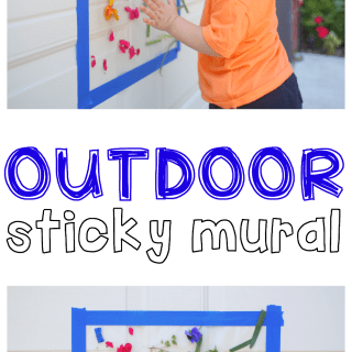 Outdoor Sticky Mural for Toddlers