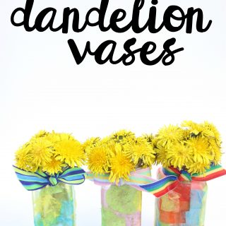 Easy Recycled Spice Jar Dandelion Vases