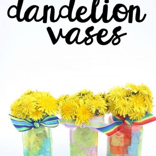 Recycled Spice Jar Dandelion Vases