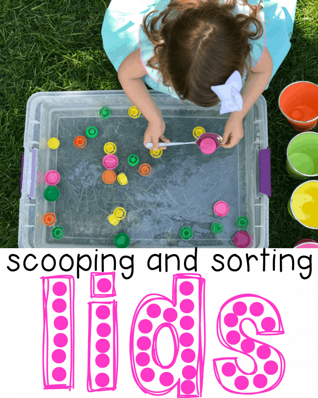 Scooping and sorting lids