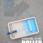 Sidewalk Chalk Roller Painting