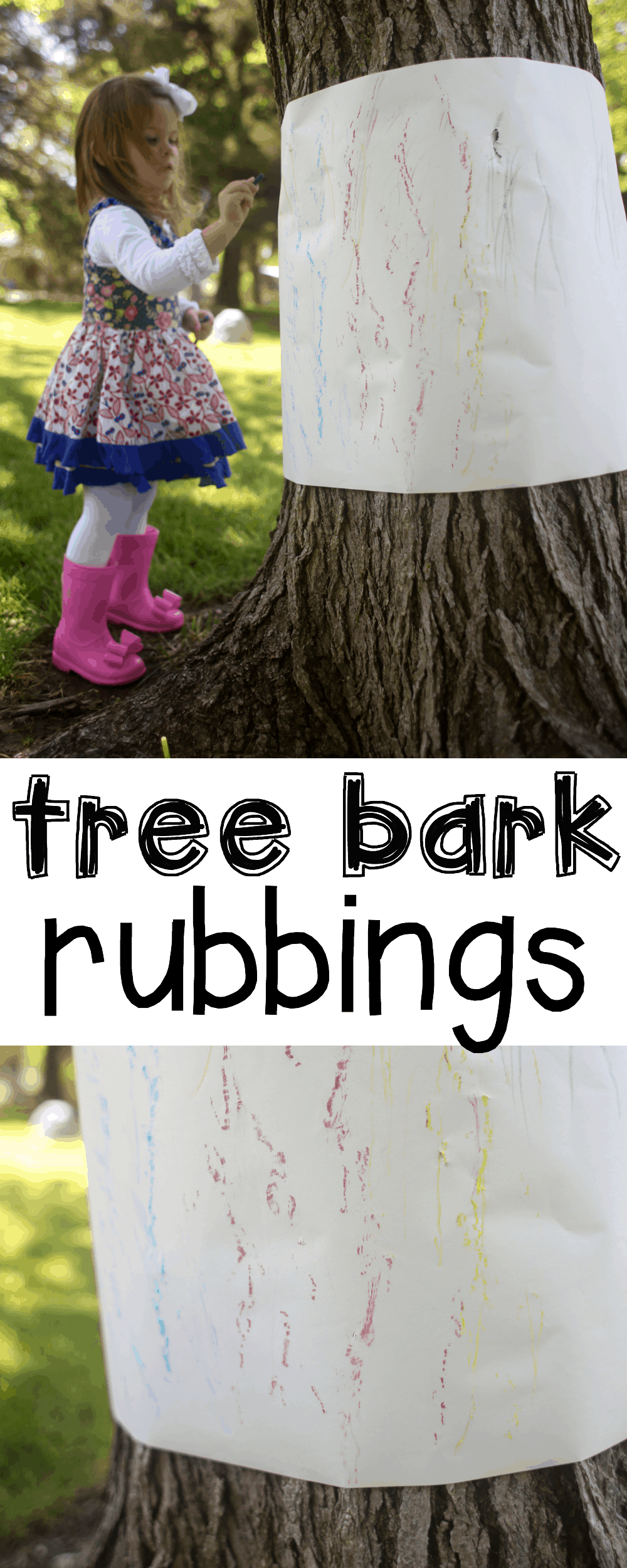 Outdoor tree bark rubbings i can teach my child for Outdoor crafts for camping