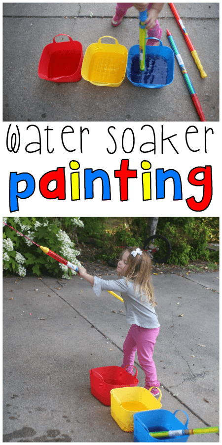 Water Soaker Painting for Toddlers