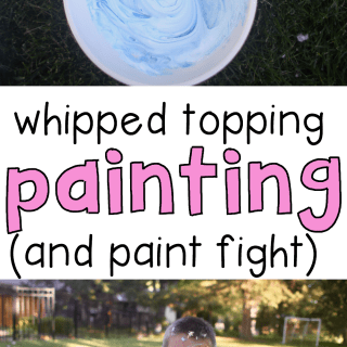 Whipped Topping Painting and Paint Fight