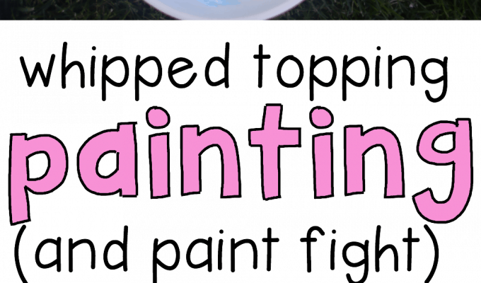 Whipped Topping Painting (and Paint Fight)
