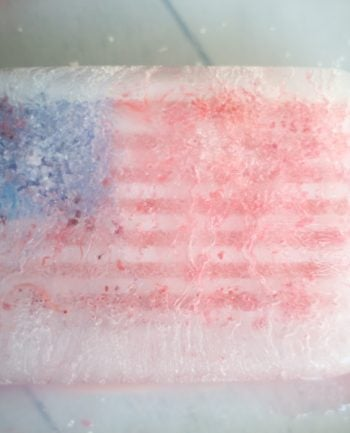 American Flag Ice Painting
