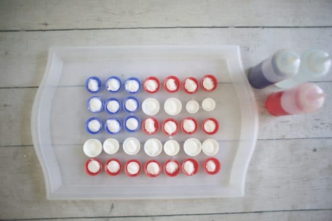 Fizzy Flag 4th of July Activity