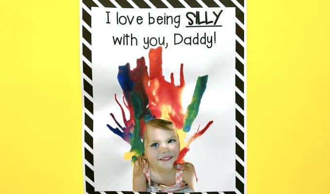 Silly Father's Day Blow Painting and Printable Questionnaire
