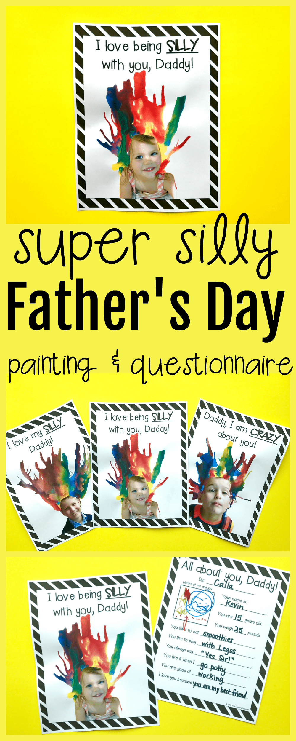 silly father u0027s day blow painting and printable questionnaire i