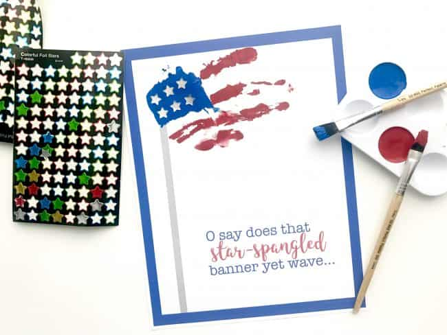 Star Spangled Banner Handprint Art