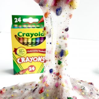 Crayon Slime made with crayons
