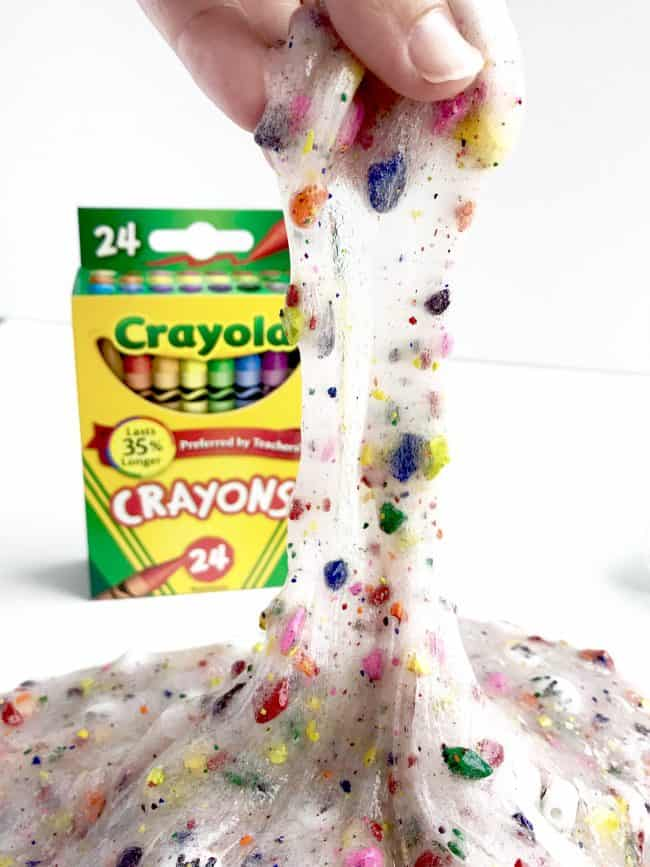 Back to School Slime made with crayons