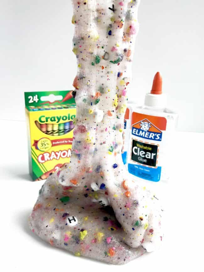 Back to School Slime made with school supplies
