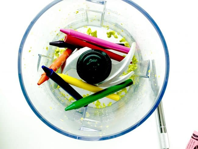 Crayons in Food Processor