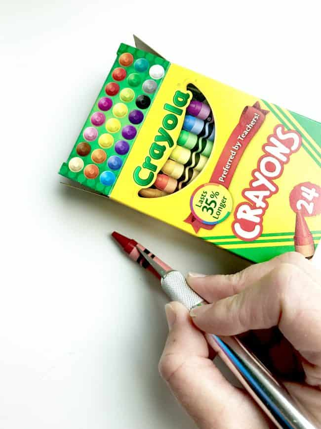 How to Quickly Remove Crayon Wrapping