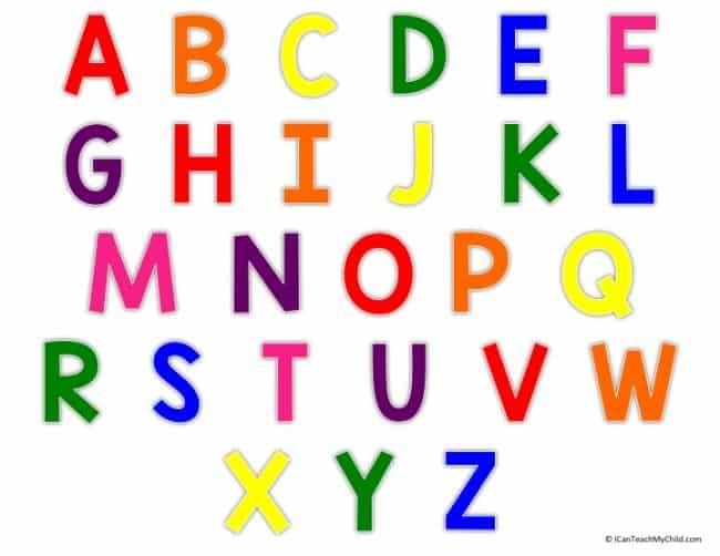 Alphabet Chart Slide