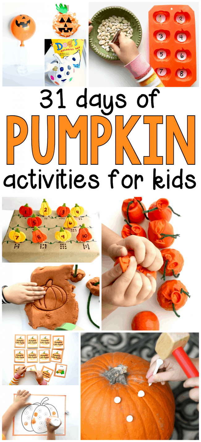 31 Days of Pumpkin Activities for Preschoolers