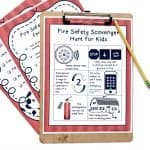 Fire Safety Checklist and Scavenger Hunt