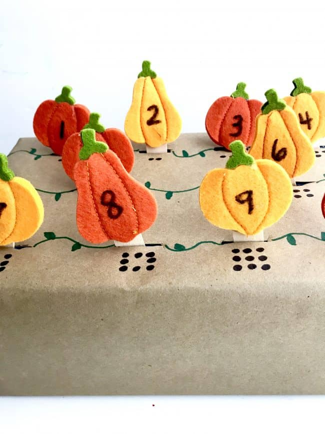 Pumpkin Patch Number Match