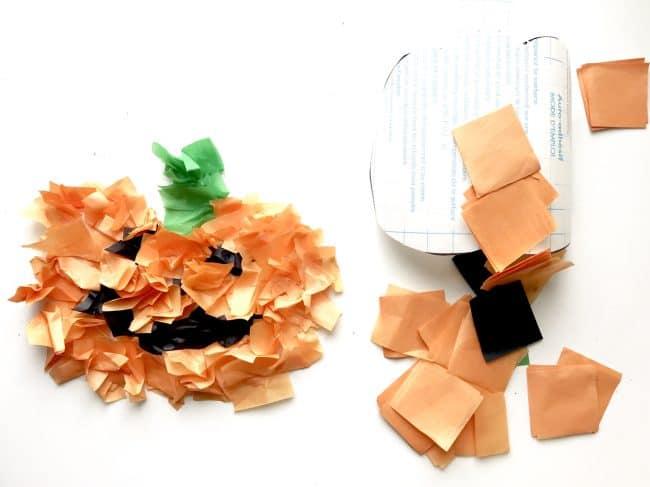 Tissue Paper Jack-O-Lantern