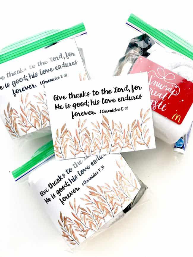 November Mini Blessing Bags