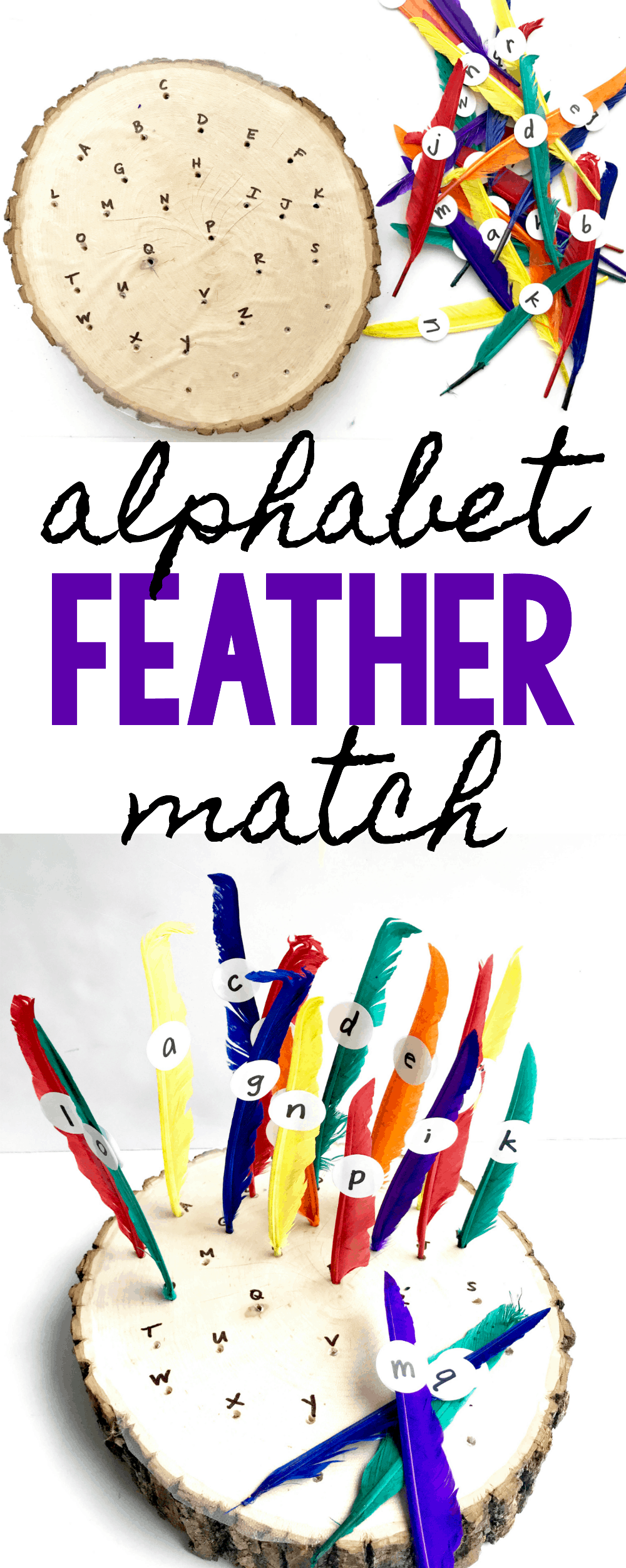 Thanksgiving Alphabet Feather Match - I Can Teach My Child!
