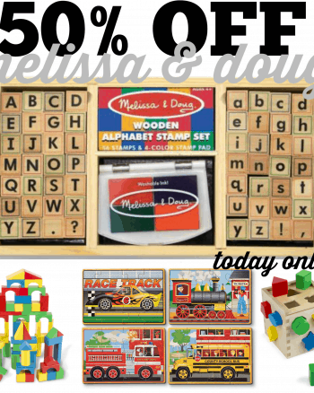 50% Off Melissa & Doug Toys Today Only