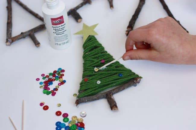 Easy String Art Christmas Tree Ornament