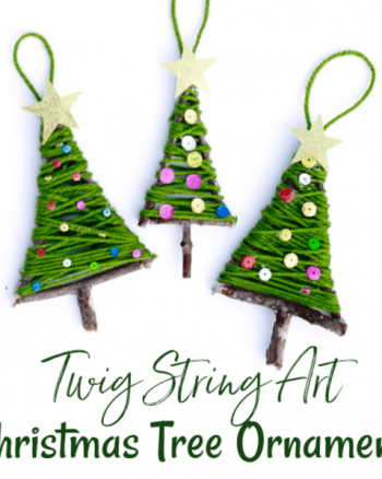 Twig String Art Christmas Tree Ornament