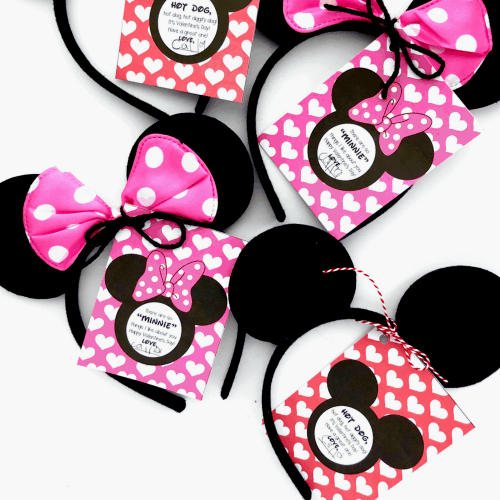 Printable Mickey Mouse and Minnie Mouse Valentines