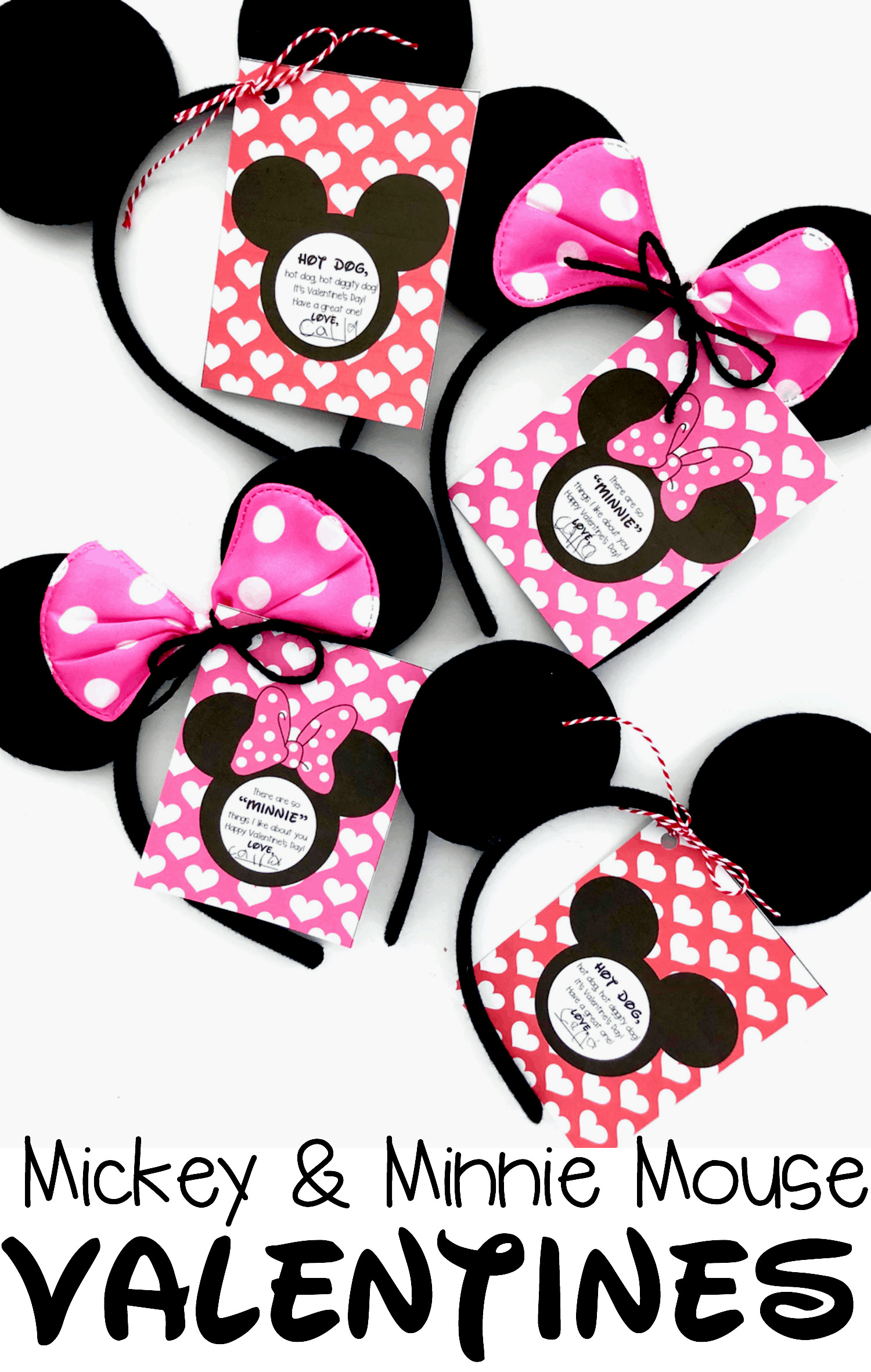 picture regarding Printable Mickey Mouse titled Mickey Mouse and Minnie Mouse Valentine - I Can Train My Youngster!